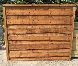 🌻Pressure Treated Brown Wayneylap Wooden Garden Fence Panels