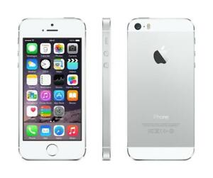 iPhone 5s 16GB Silver UNLOCKED ( including Freedom / Chatr ) 10/10 condition $120 FIRM
