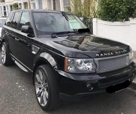 Range Rover Sport 2007 grey front grill