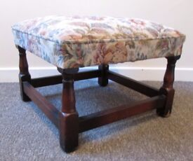 Large vintage stool footrest foot stool seat 47x 47cms FREE DELIVERY