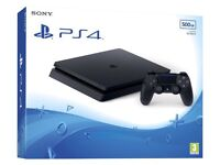 **SEALED** PS4 SLIM 500GB BRAND NEW PLAYSTATION 4 AND INCLUDED 1 YEAR WARRANTY. GENUINE UK STOCK