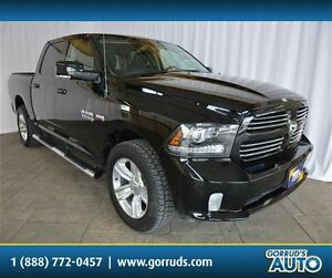 2015 Dodge Ram 1500 SPORT CREW CAB, NAV, LEATHER, BLUETOOTH, BAC