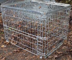 Heavy duty folding steel cage. Height 36 inches, width 48 inches, depth 40 inches
