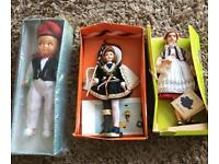 Old vintage dolls from various countries