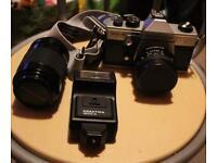 Praktica MTL 50 Camera, Lens & Flash with Bag+Strap