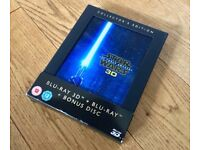 Star Wars Force Awakens 3D Blu Ray. NO 3D disc,