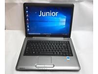 Toshiba Fast Laptop, 250GB, 3GB Ram, Genuine Windows 10, Microsoft office, Very Good Cond
