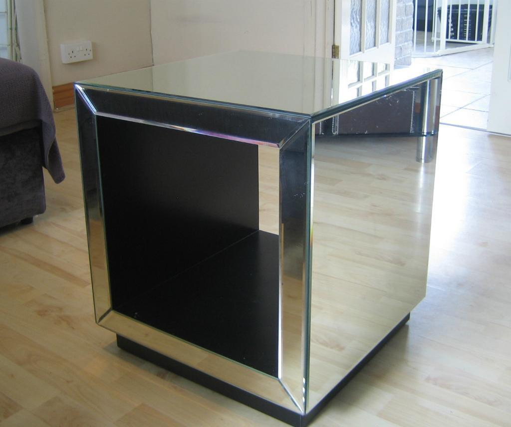 John Lewis Astoria Mirrored Cube Side Table In Cyncoed Cardiff