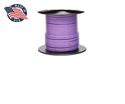 100ft Milspec High Temperature Wire Cable 22 Gauge Violet Tefzel M2275916-22-7