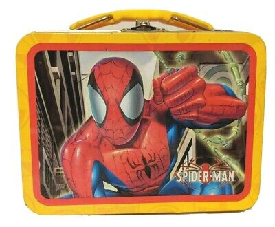 Spider-man Mini Metal Lunch Box 2005 Tin Box Marvel Spiderman