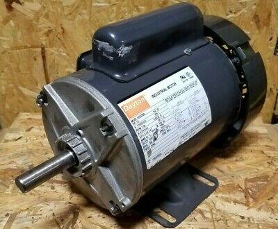 New Dayton 12 Hp Single Phase Motor  6k937bb 58 Dia Shaft