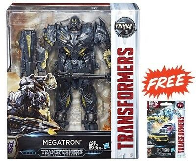 TRANSFORMERS MV5 THE LAST KNIGHT LEADER MEGATRON ACTION FIGURE + TINY TURBO 01