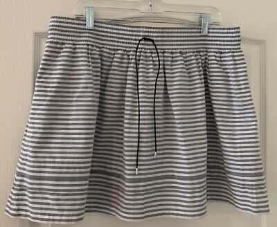 Women's Kate Spade Saturday Gray & White Striped Skirt Casual Sporty EUC - Sz XL