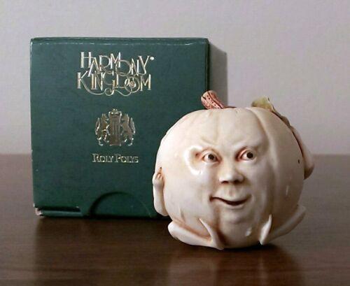 RARE Harmony Kingdom OZZIE Pumpkin HARD BODY Halloween Roly Polys Adam Binder
