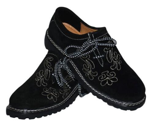 Black Men LEATHER Shoes German Lederhosen Bundhosen Oktoberfest 8 9 10 11 12 13