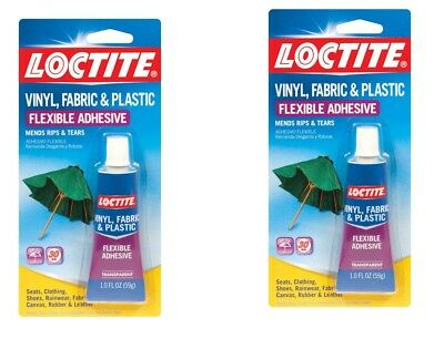 2pk LOCTITE Vinyl Fabric Plastic Flexible Clear Adhesive Leather Canvas Glue
