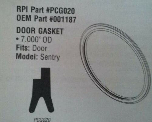 New! DOOR GASKET for  PELTON & CRANE Sentry RPI Part #PCG020  OEM Part #001187
