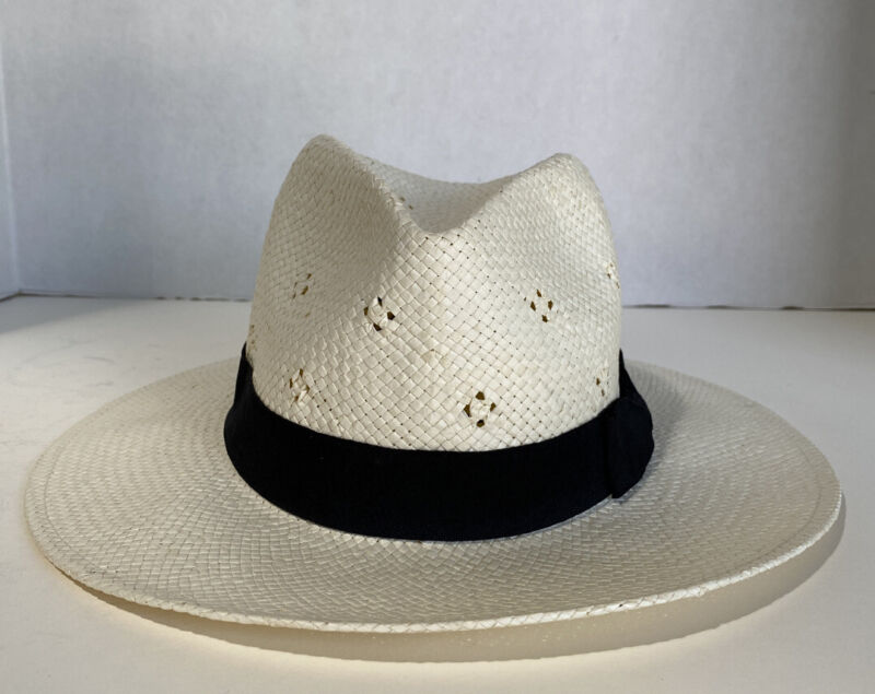 WOMEN'S PAPER WOVEN HAT WITH BLACK BAND