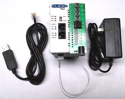 Automation Direct Click Plc Training Kit With Trainer Power Supply Usb Cable