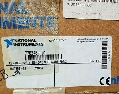 National Instruments At-dio-32f Ni-daq Software Fd53 776246-01 180735e-01