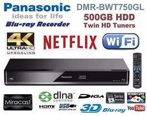 Panasonic DMR-BWT750GL 4K Compatible Blu-ray Recorder 500GB NEW Murray Bridge Murray Bridge Area Preview
