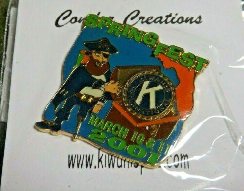 Kiwanis International Florida Spring Fest 2001 Lapel Pin Pirate Treasure Chest