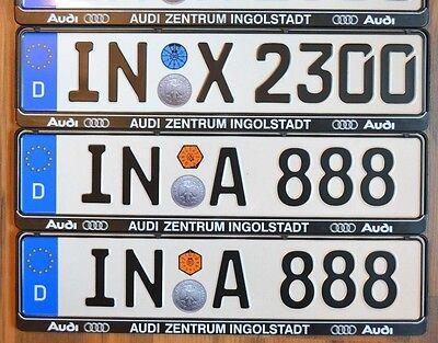 AUDI dealer frame + German license plate from Ingolstadt home of AUDI best
