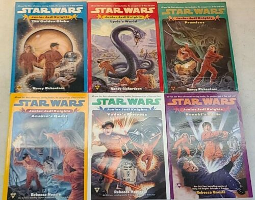 6 Volume Set Star Wars Junior Jedi Knights Books Rare PB Vols 1-6 Complete Lot