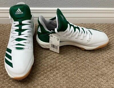 Adidas Boost Icon 4 Metal Baseball Cleats Mens Size 6 White & Green CM8475