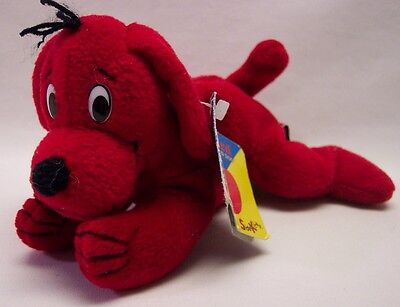 """Scholastic CLIFFORD THE BIG RED DOG 7"""" Bean Bag STUFFED ANIMAL Toy"""