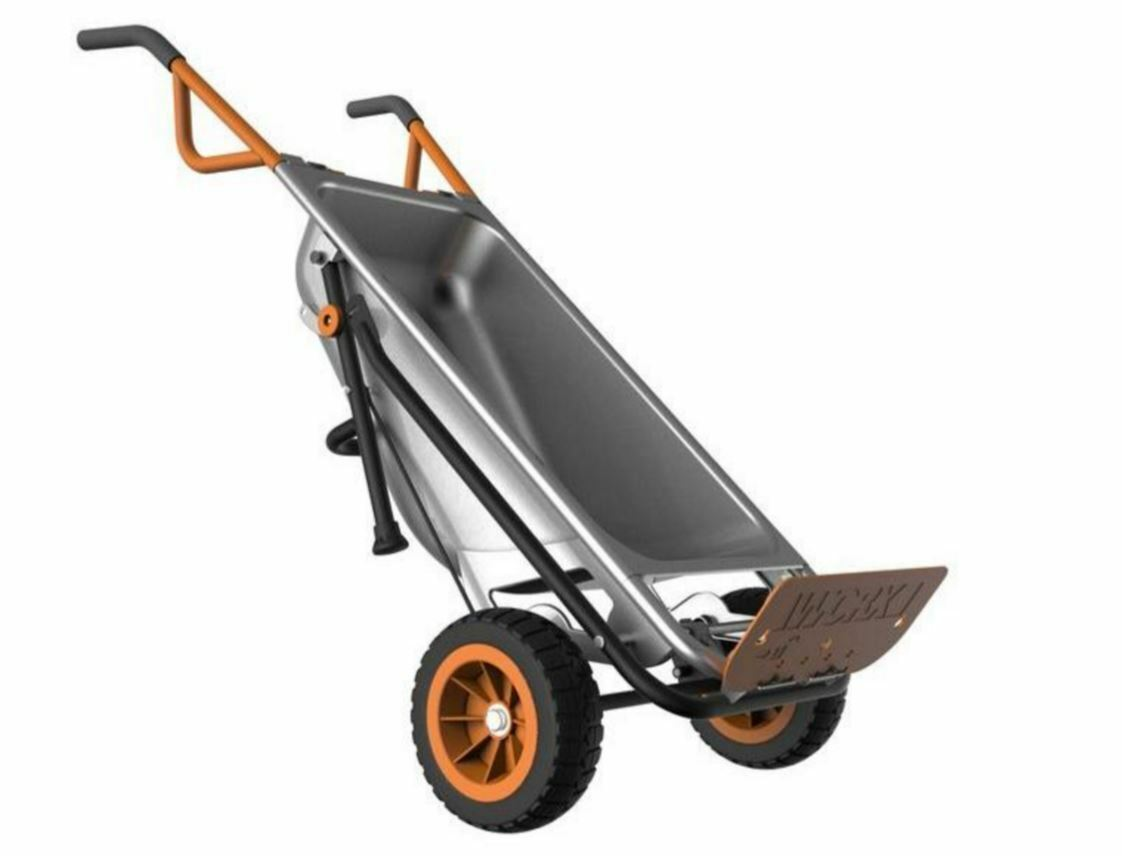 Worx 4 cu. ft. AeroCart Cart Garden Lawn Wagon Wheelbarrow M