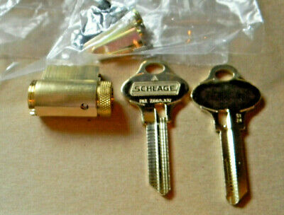 Schlage Everest 29 Knob And Lever Cylinder Kit- Brass- New S123s124 S145