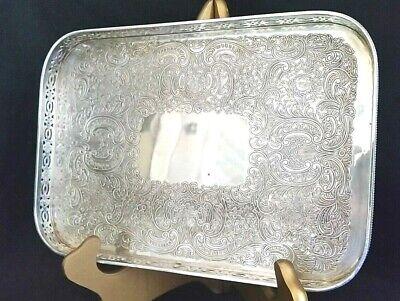 Vintage Silver Plated Hard Soldered Silver Divided Tray Silver Plated Shell 3 Part Divided Tray