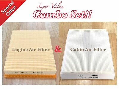 ENGINE&CABIN AIR FILTER FOR FORD EDGE 15-17 Fusion MKZ 13-16 DG9Z-19N619-A