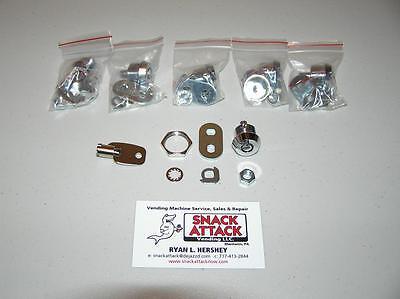 Vendstar 3000 2222 (5) Back Door Locks & (1) Key - / Free Ship