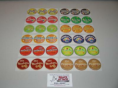 36 Vendstar 3000 Bulk Candy Vending Machine Candy Label Stickers Free Ship