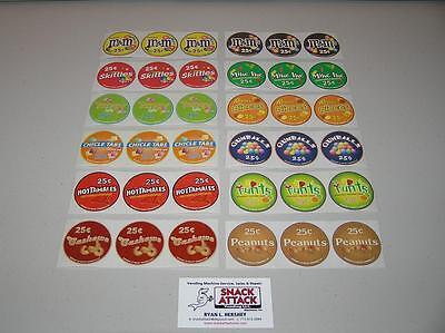 36 Vendstar 3000 Bulk Candy Vending Machine Candy Label Stickers Free Ship