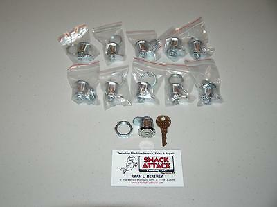 Vendstar 3000 10 157 Top Lid Locks 4 Keys - New Free Ship