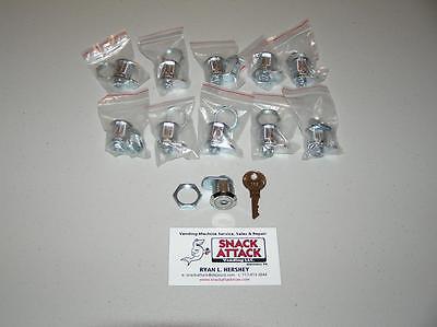 Vendstar 3000 10 159 Top Lid Locks 4 Keys - New Free Ship