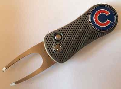 Chicago Cubs Pitchfix Switchblade Golf Divot Tool w removable Ball Marker