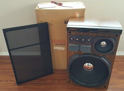 VINTAGE PIONEER STEREO SPEAKER CS-907A MADE IN JAPAN MINT IN BOX NOS