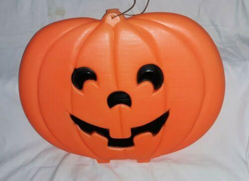 "Vintage 20"" X 16"" Flat Jack O' Lantern Blow Mold-Pumpkin-Halloween"