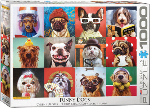 Eurographics 1000 Piece Jigsaw Puzzle - Funny Dogs