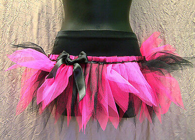 PLUS SIZE NEON PINK BLACK LUXURY TUTU SKIRT 80'S FANCY DRESS DANCE XXXL 24 26 28 ()