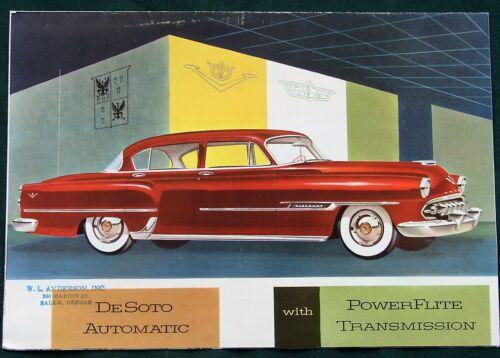 1954 DeSoto w PowerFlite Transmission orig Chrysler Advertising Brochure