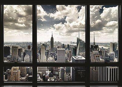 New York Window Poster Print 39X55  Nyc City View Office Large Skyline Art Decor