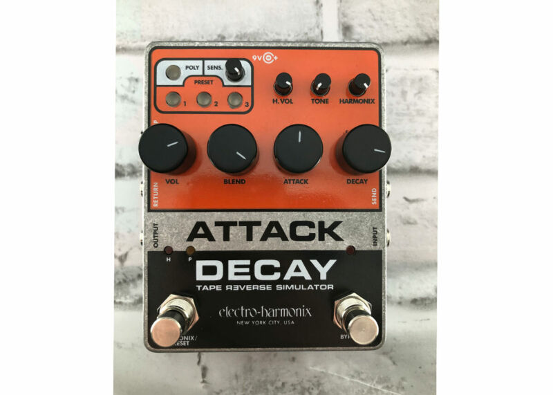 Electro-Harmonix Attack Decay Tape Reverse Simulator - Used - FREE 2 DAY SHIP