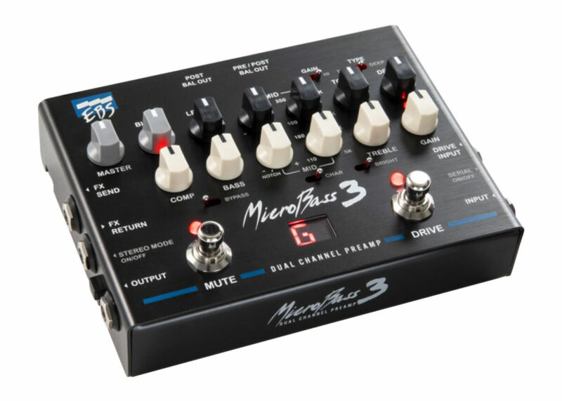 EBS MB3 MicroBass 3 Professional Dual Channel Preamp - FREE 2 DAY SHIP