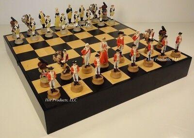 16 Wood Chess - AMERICAN REVOLUTION Chess Set W/ 16