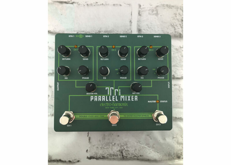 EHX Tri Parallel Mixer Effects Loop Mixer/Switcher Used